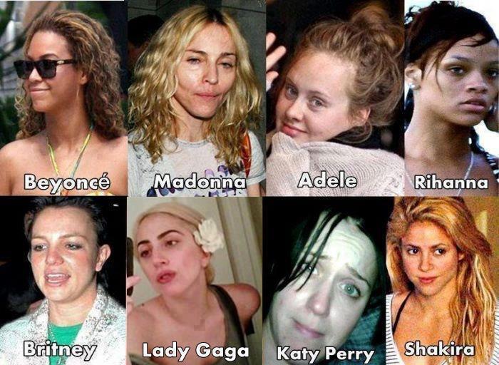 Les Stars Sans Maquillages Et Sans Photoshop