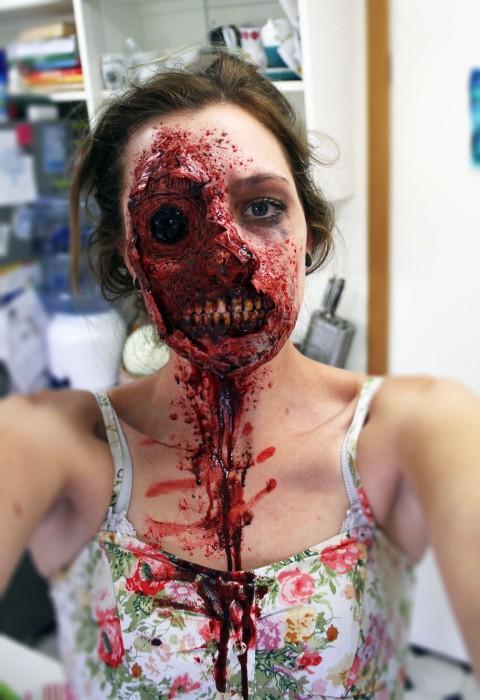 maquillage zombie terrifiant
