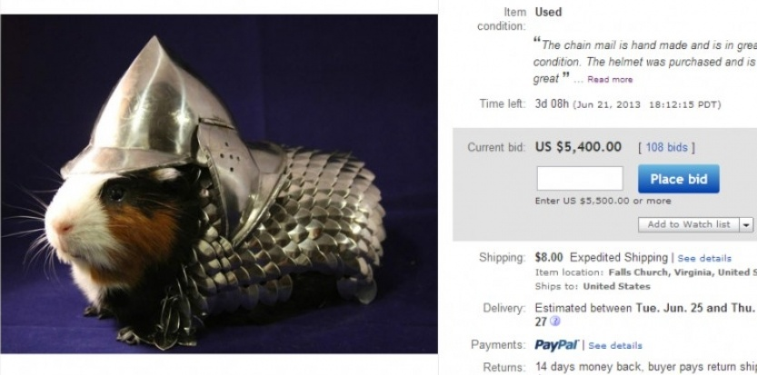 une armure pour cochon d 39 inde en vente sur ebay. Black Bedroom Furniture Sets. Home Design Ideas