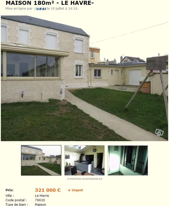 Le bon coin la pire annonce pour vendre une maison for Annonce pour louer une maison