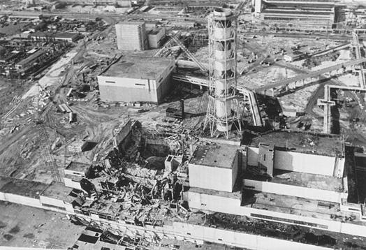 Explosion de la centrale de Tchernobyl le 26 avril 1986