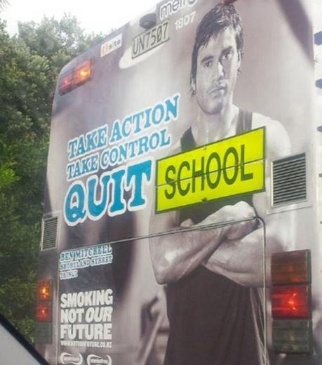 quit school