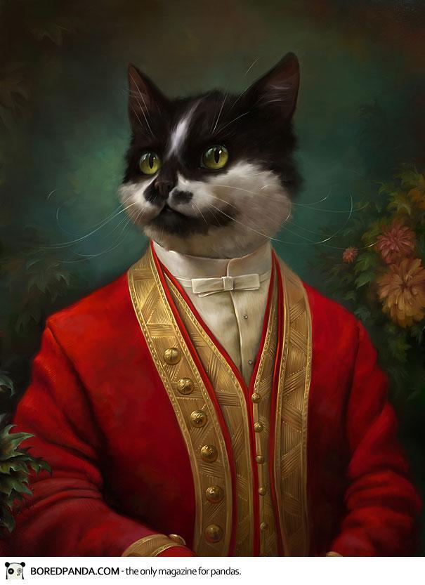 Des portraits de chats...