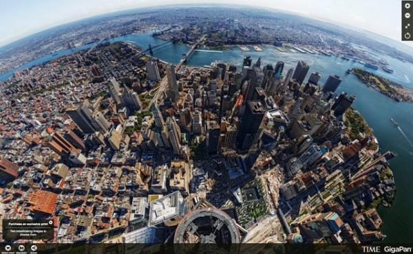 D couvrez new york vu de la freedom tower le plus haut for Table vue de haut