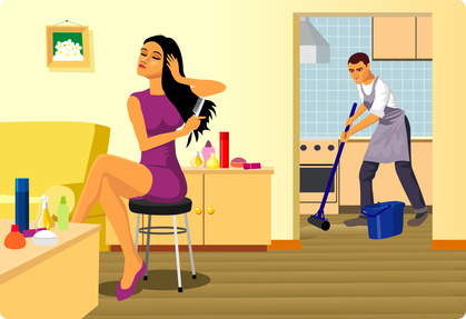 vid o et si on changeait les r les des hommes et des femmes dans un couple. Black Bedroom Furniture Sets. Home Design Ideas
