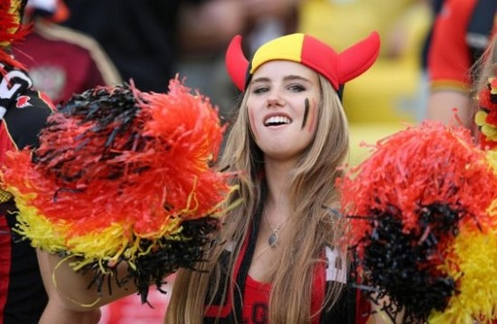 la plus belle supportrice belge