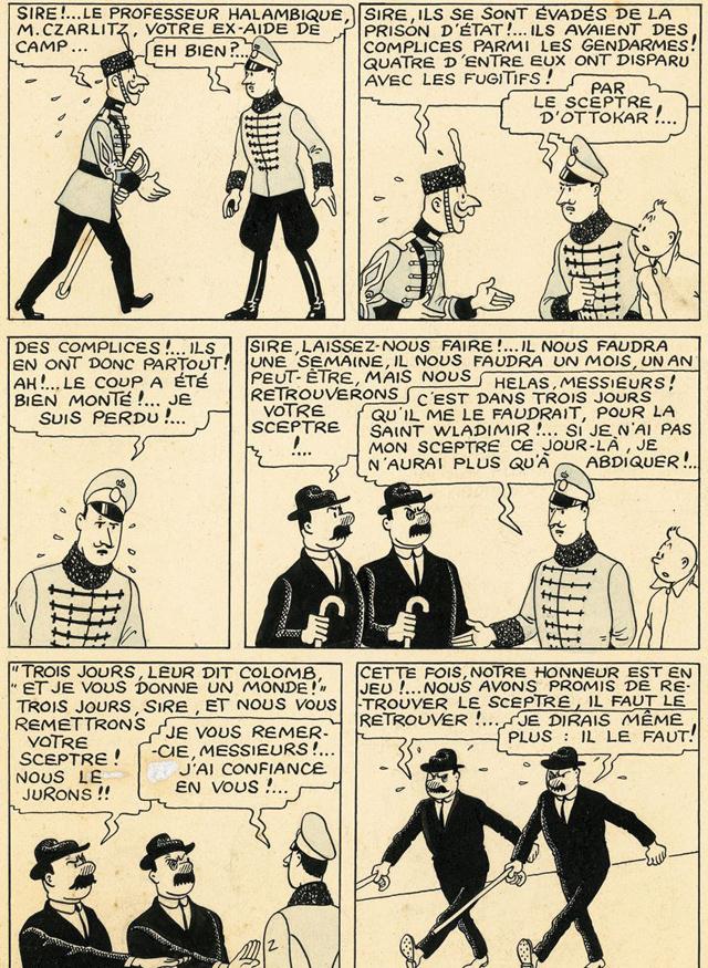 Il-retrouve-une-planche-originale-de-Tintin-derrière-un-meuble