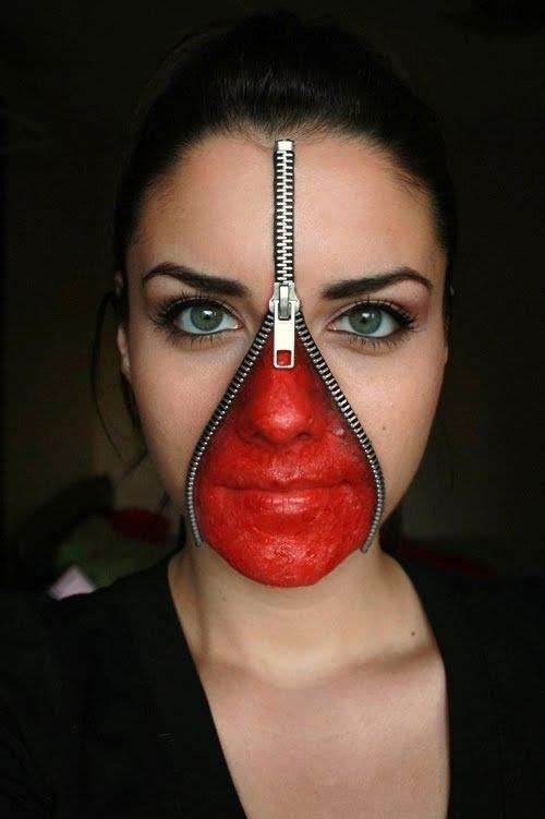 20 maquillages d 39 halloween qui font vraiment peur. Black Bedroom Furniture Sets. Home Design Ideas