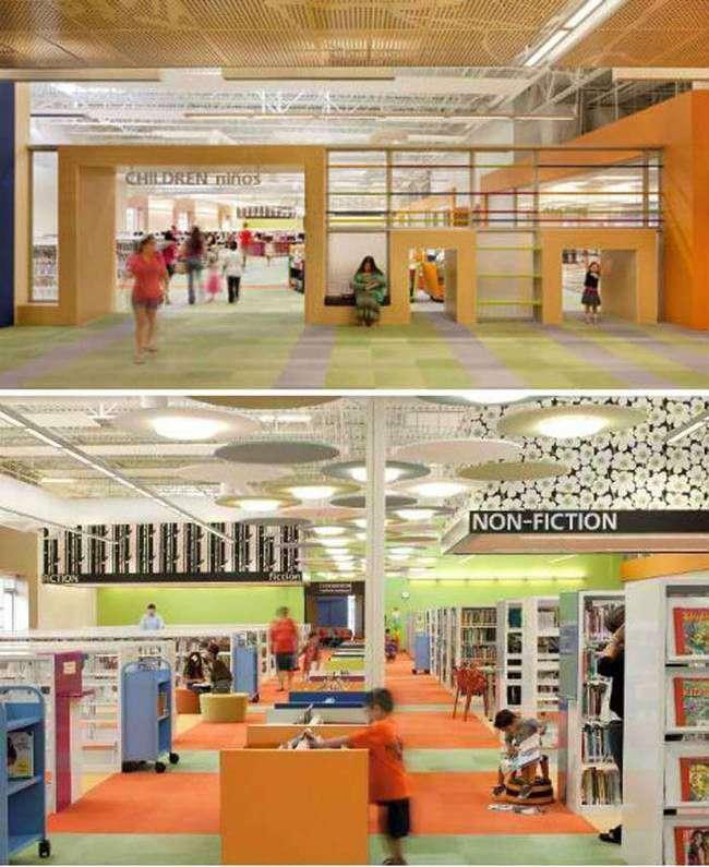 Un Centre Commercial Abandonn Transform En Biblioth Que