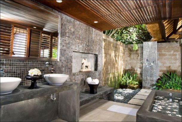 50 salles de bain vraiment originales qui vont vous donner for Bali style home designs
