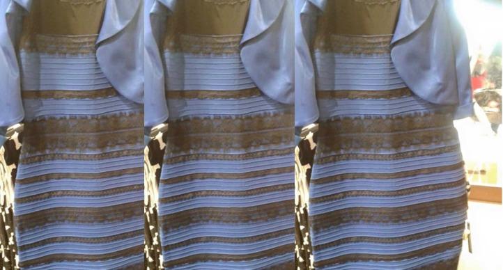 Robe bleu et noir qui change de couleur