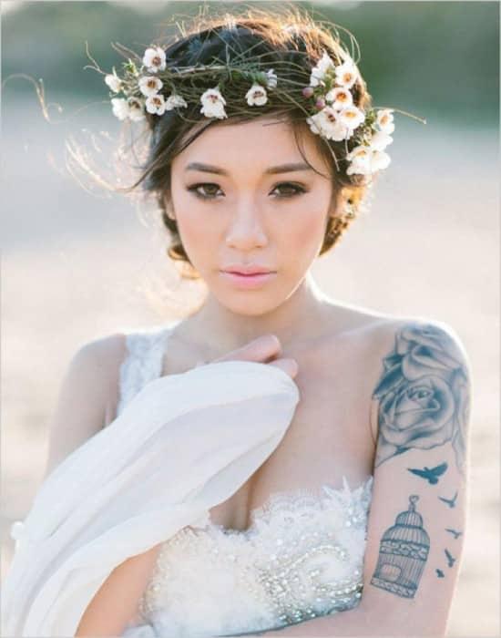 30 mariées qui vont vous prouver que mariage et tatouage ne sont pas incompatibles ! Mt9-550x700