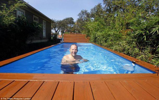 quand un conteneur devient une somptueuse piscine pratique et pas cher. Black Bedroom Furniture Sets. Home Design Ideas