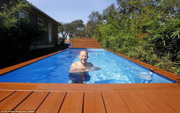 Quand un conteneur devient une somptueuse piscine for Peinture speciale piscine
