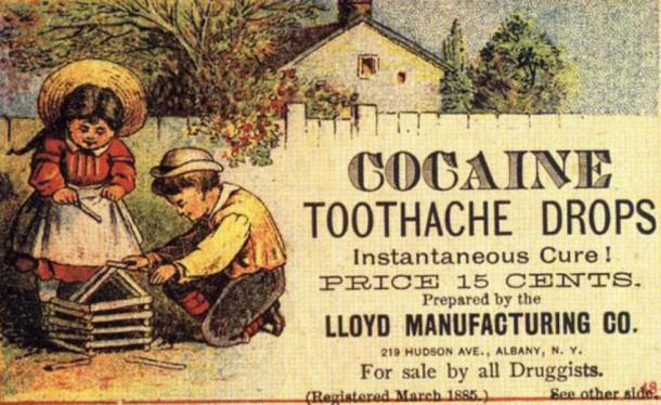 La cocaïne contre le mal de dents