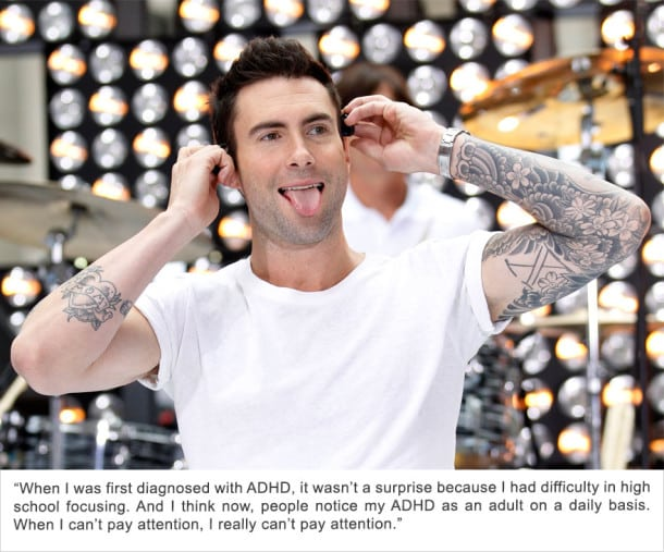 Adam Levine - Déficit de l'attention/Hyperactivité