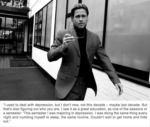 Brad Pitt - Dépression