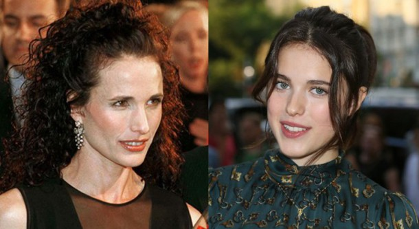 Andie McDowell et Margaret Qualley