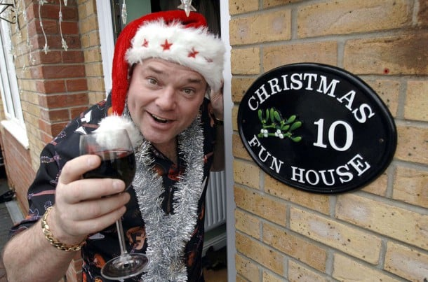 Mandatory Credit: Photo By David Hartley / Rex Features Andy Parks celebrates Christmas everyday, which includes eating Christmas lunch everyday ANDY PARKS WHO CELEBRATES CHRISTMAS EVERYDAY, MELKSHAM, WILTSHIRE, BRITAIN - DEC 2005 /REX_MR_CHRISTMAS_562850e//0512051206