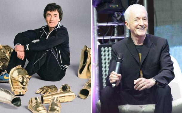 Anthony Daniels en С-3Рo, 1977 et 2015