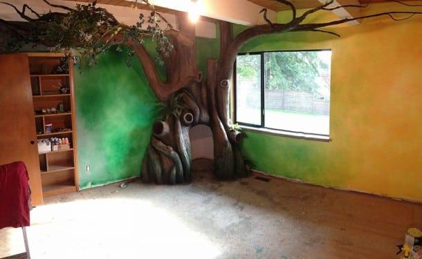 un papa recr e un univers totalement f rique dans la chambre de sa fille une vraie chambre de. Black Bedroom Furniture Sets. Home Design Ideas