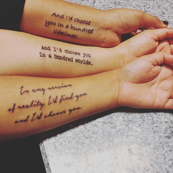35 Idées De Tatouages à Se Faire Faire Entre Soeurs Pour Montrer