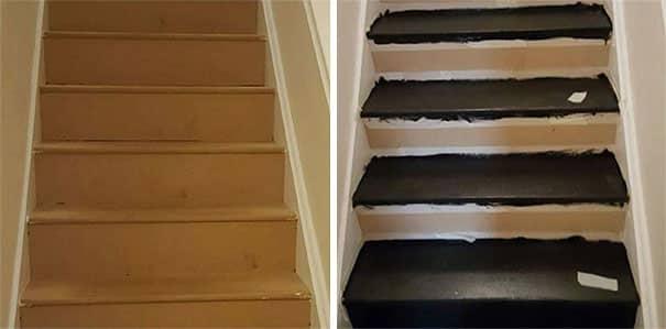 Elle a relook ses escaliers de fa on tr s tr s originale - Decorer ses toilettes de facon originale ...