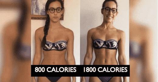 cette jeune fille est la preuve que r duire le nombre de calories que vous mangez n 39 est. Black Bedroom Furniture Sets. Home Design Ideas