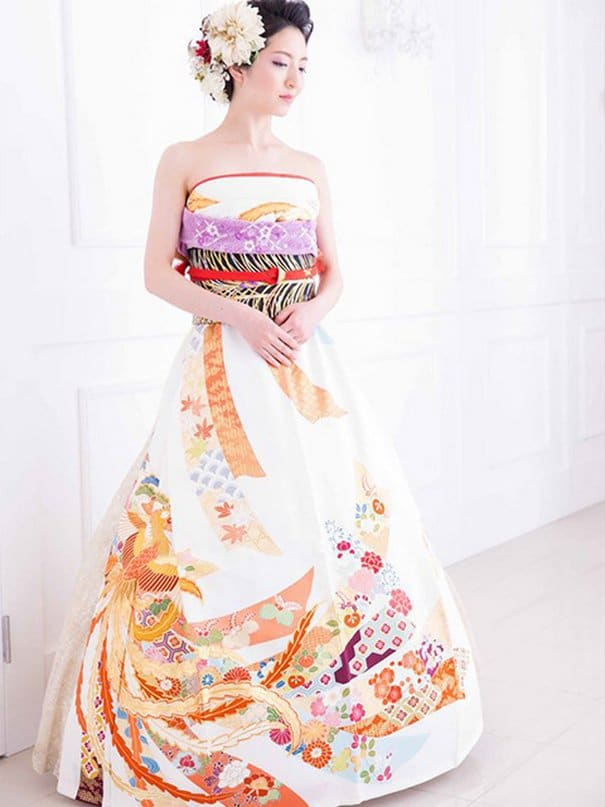 grossiste c86f3 8b0d3 robe de mariee kimono