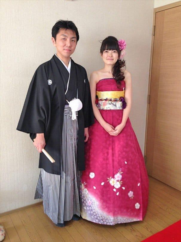 vente chaude en ligne d9fab 334f0 Des robes de mariées inspirées des traditionnels kimonos ...