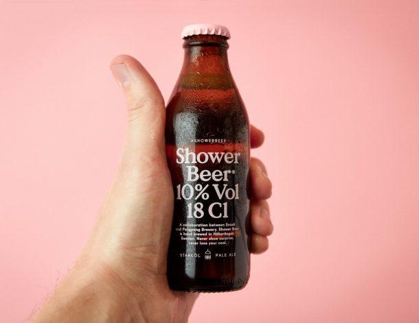Bière à boire sous la douche