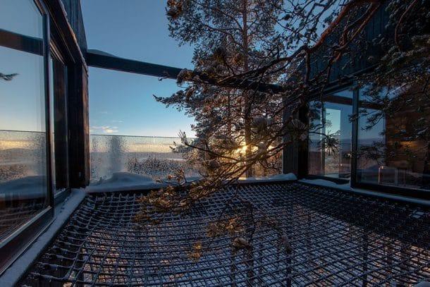 Hôtel de luxe dans les arbres