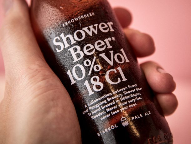 Beer to drink in the shower