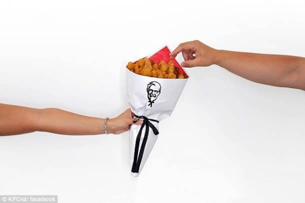 bouquet au poulet : merci KFC