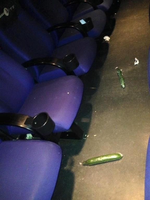 concombre dans un ciné