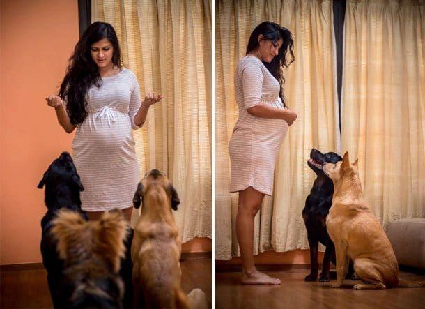 Sanjana Madappa et ses toutous