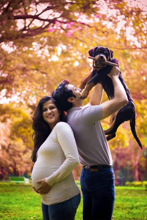 Sanjana Madappa, Aditya Raheja et un de leurs chiens