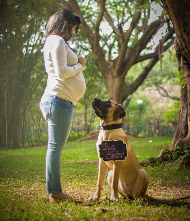 Sanjana Madappa et un de ses chiens