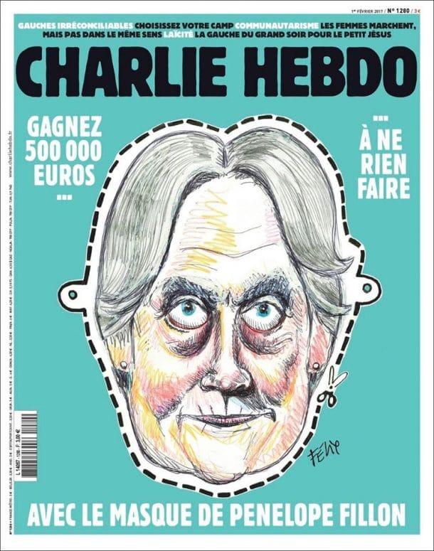 Charlie Hebdo vous propose un masque de Pénélope Fillon