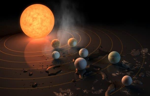 Sept exoplanètes