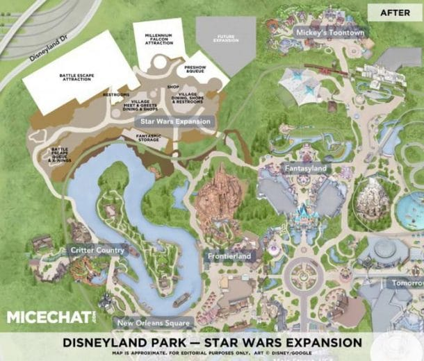 Star wars land map