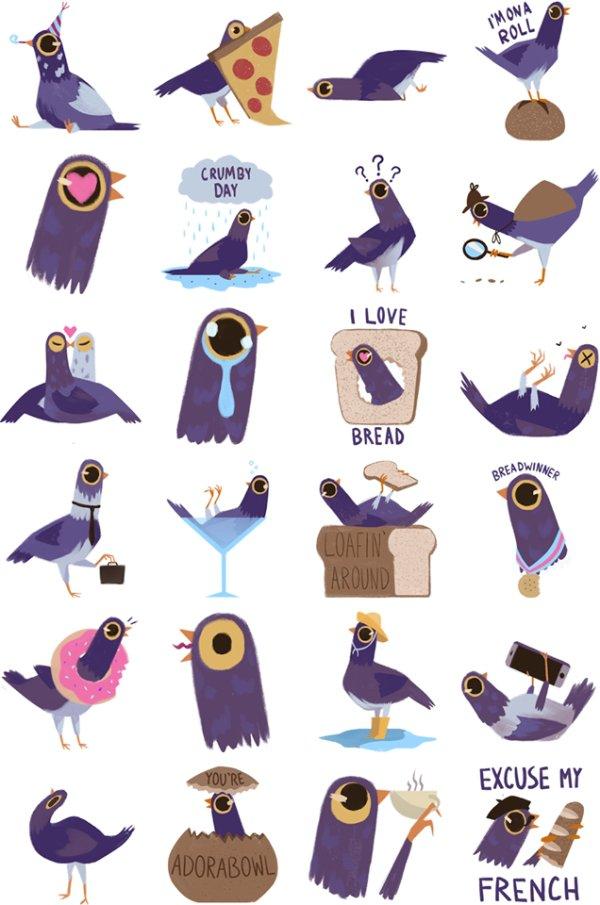 trash dove pigeon violet