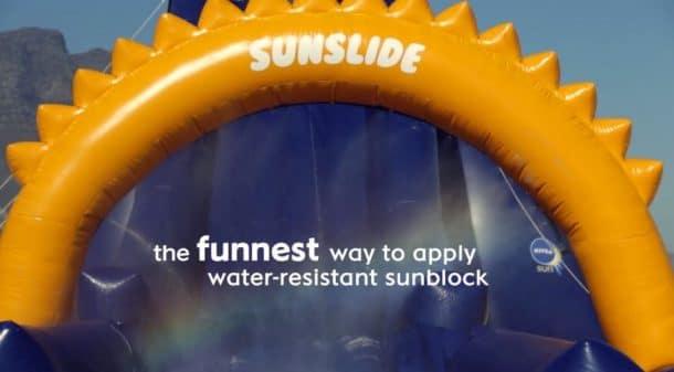 Sunslide Toboggan à crème solaire