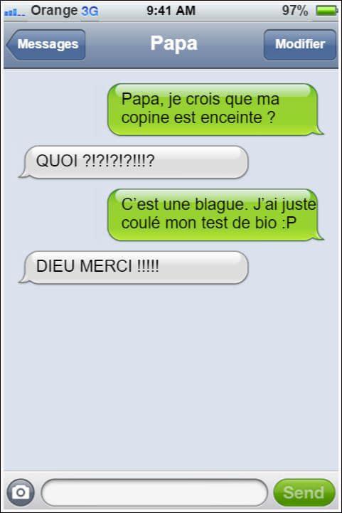 Célèbre 12 conversations SMS avec des papas qui ne manquent pas de répartie TN52