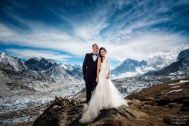 mariage en haut du Mont Everest