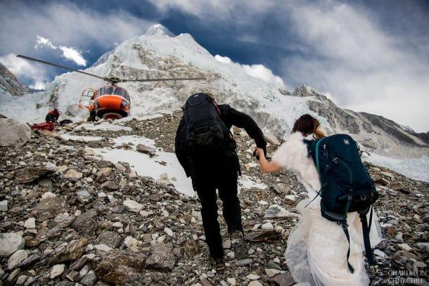 mariage au sommet du Mont Everest