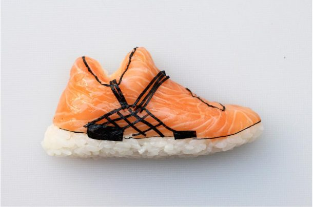 sushis en forme de sneakers
