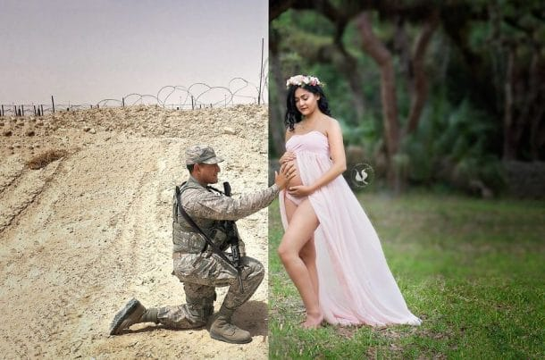 veronica phillips et son mari militaire brandon