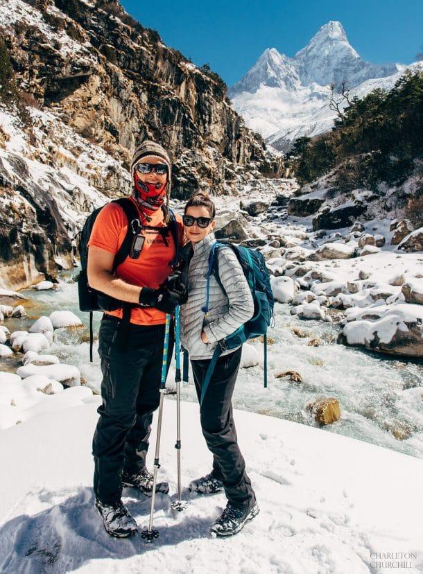 couple californien mariage en haut du mont everest