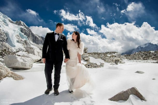 sommet du mont everest mariage